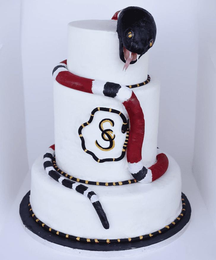 Angelic Snake Cake