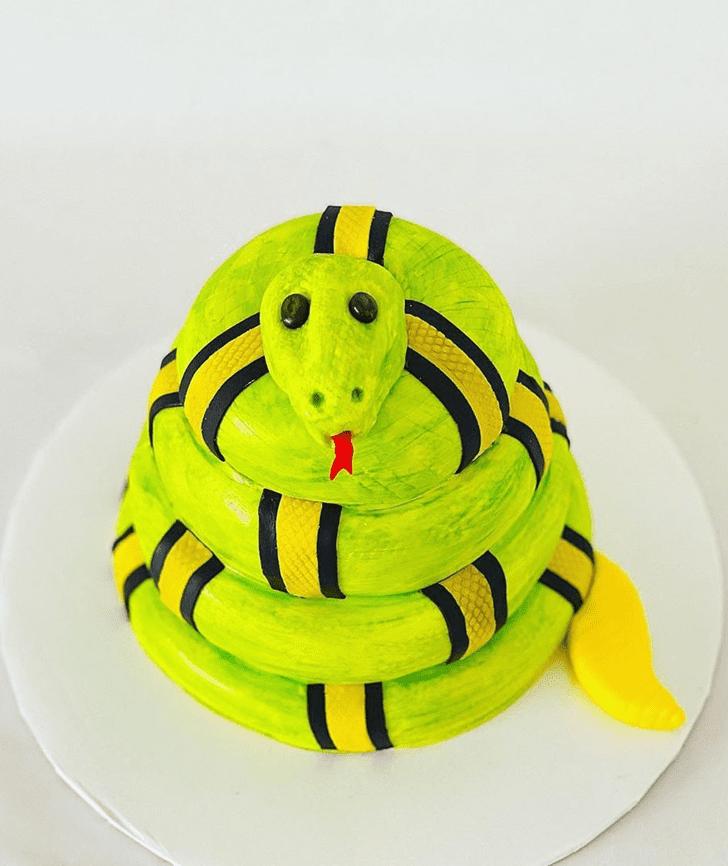 Dazzling Snake Cake