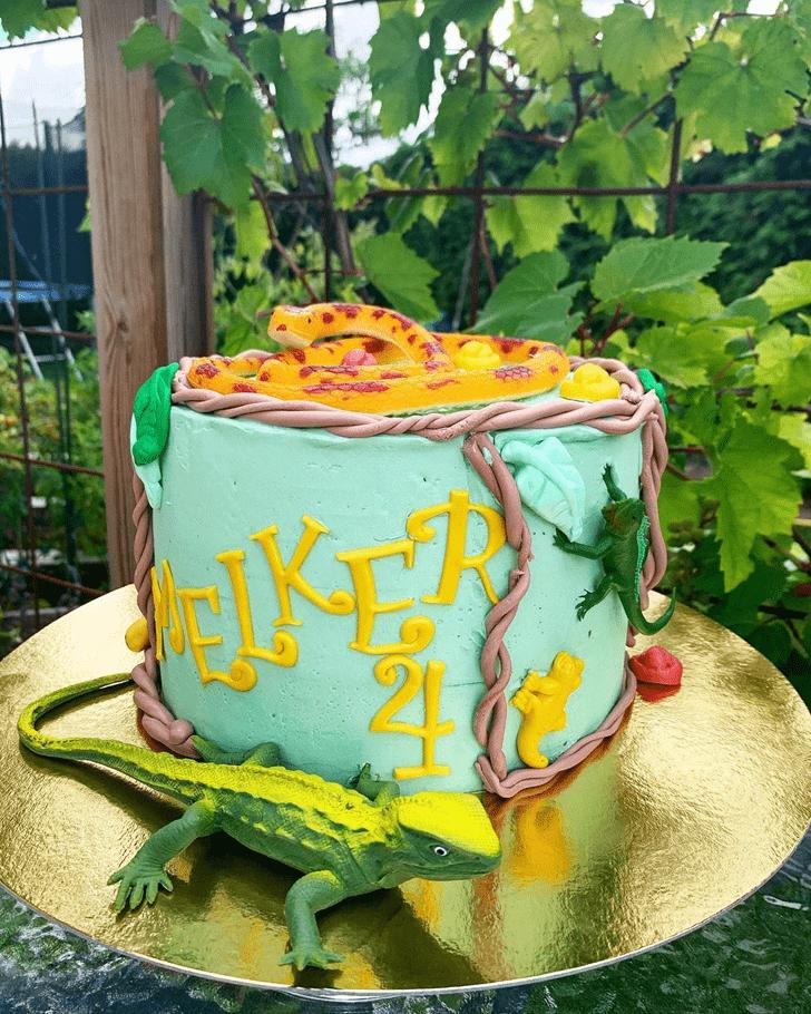 Delightful Snake Cake