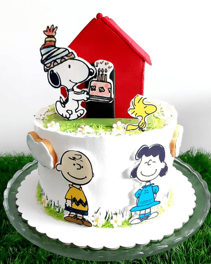 Angelic Snoopy Cake
