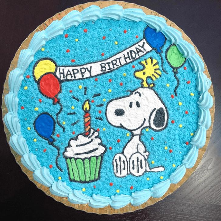 Exquisite Snoopy Cake