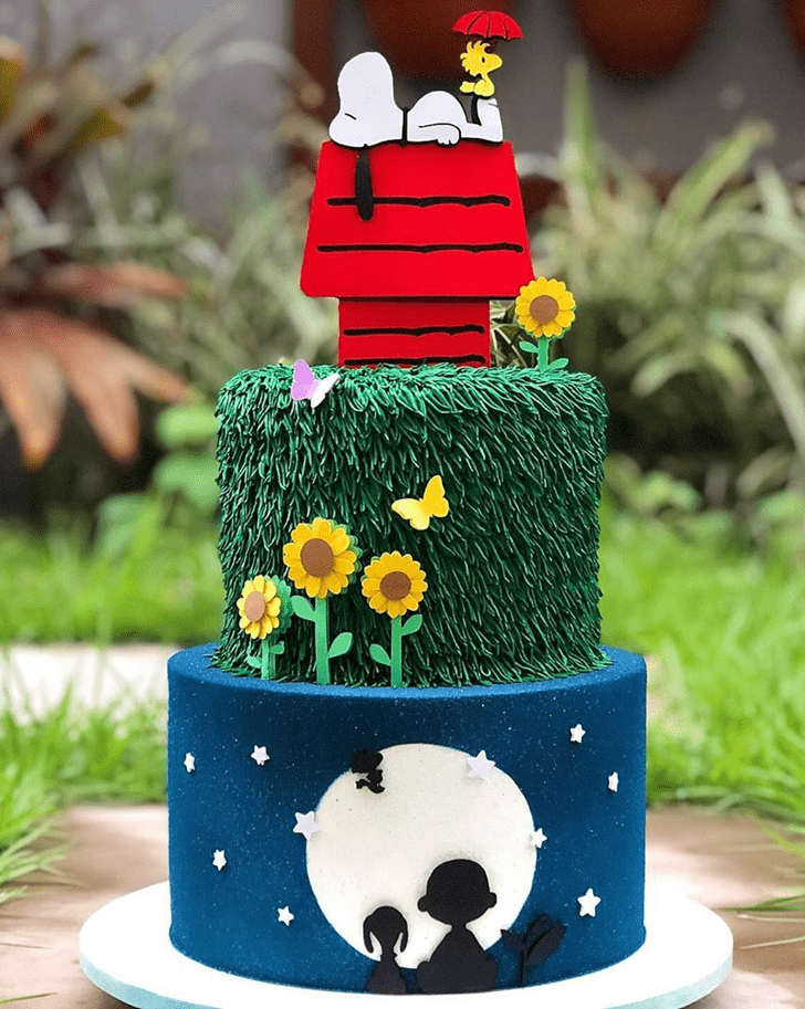 Good Looking Snoopy Cake