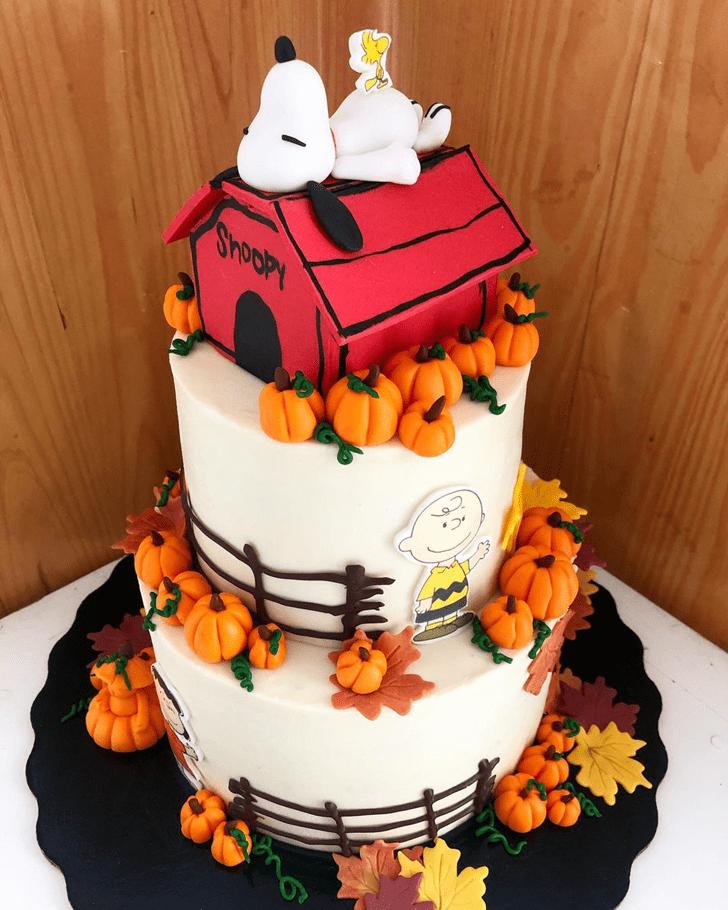 Radiant Snoopy Cake