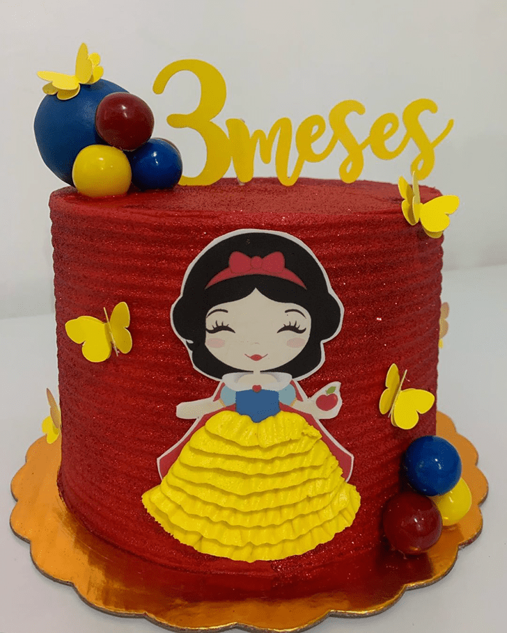 Adorable Snow White Cake