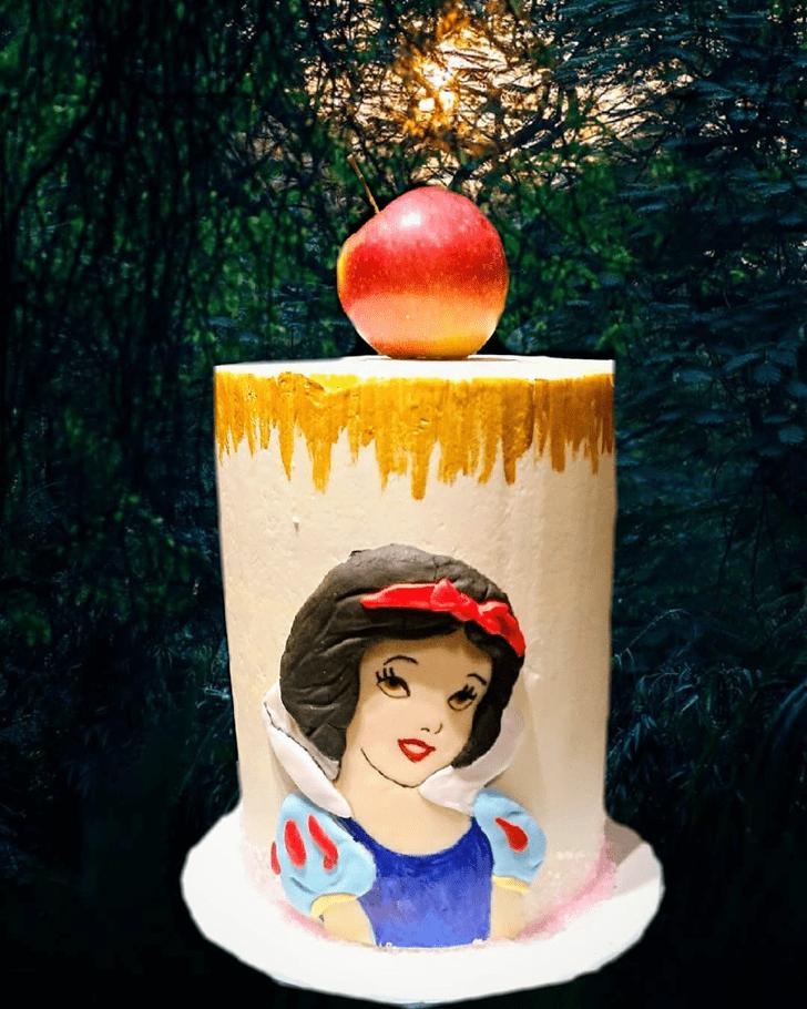 Classy Snow White Cake