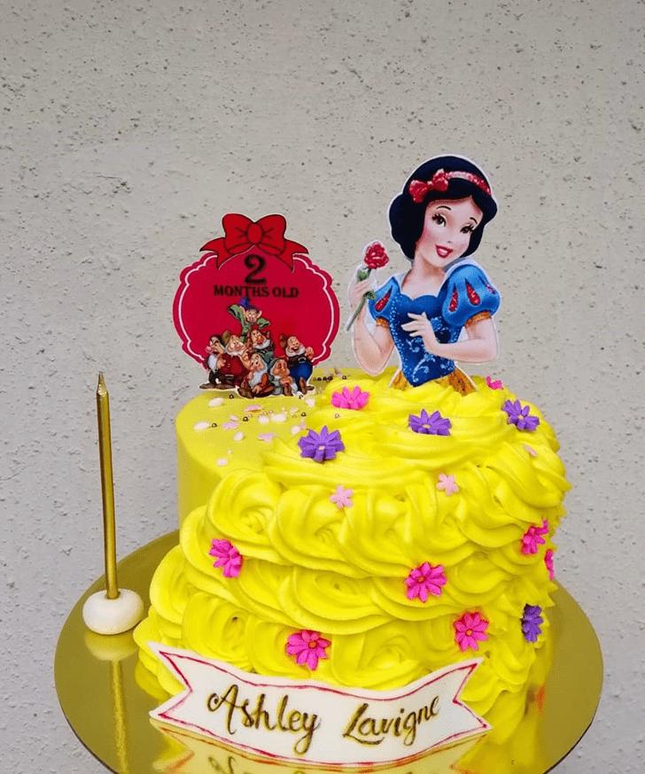 Delicate Snow White Cake