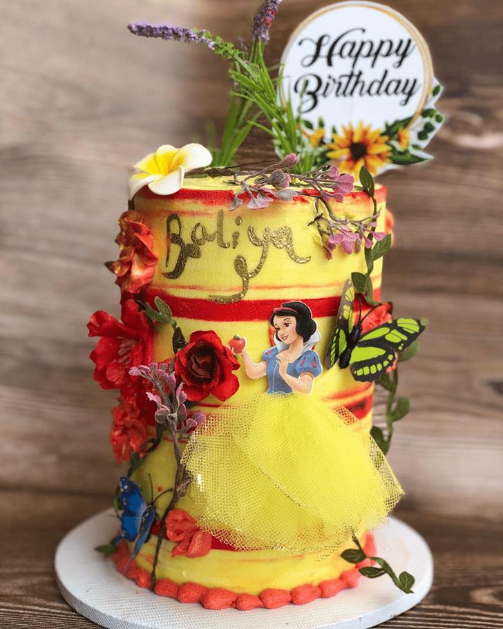 Exquisite Snow White Cake