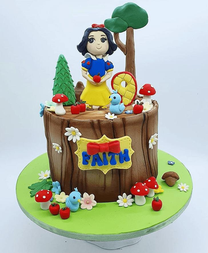 Pretty Snow White Cake