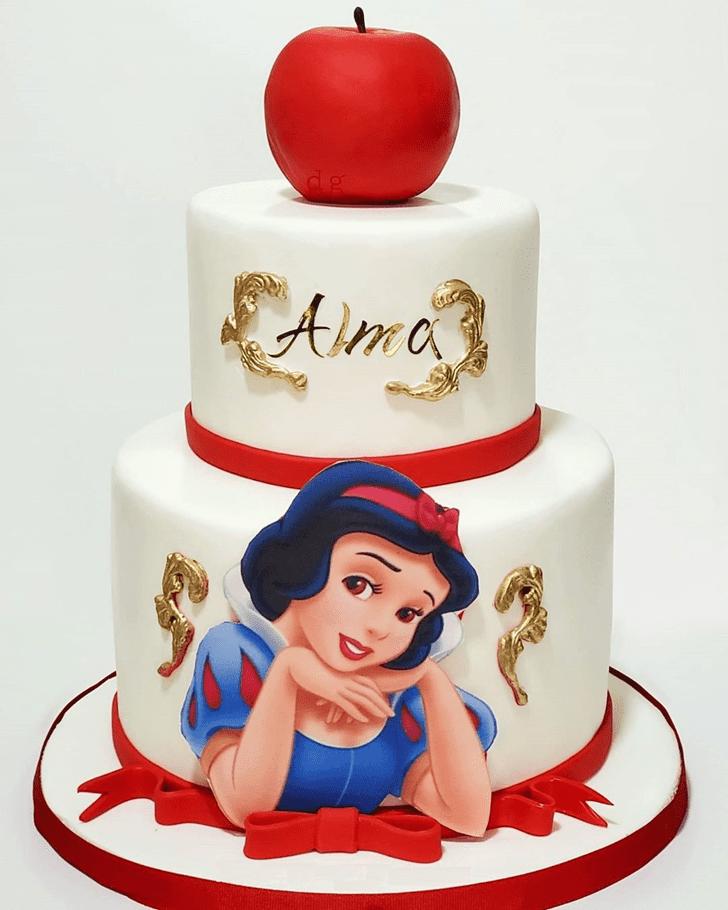 Shapely Snow White Cake