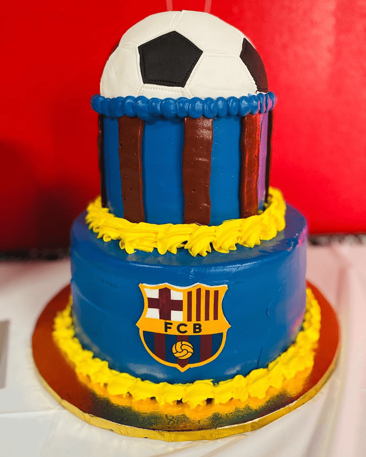 Admirable Soccer Cake Design