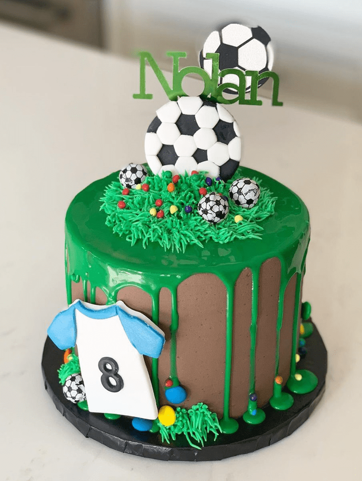 Adorable Soccer Cake