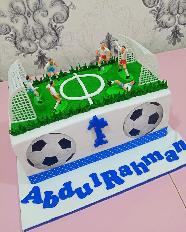 Angelic Soccer Cake