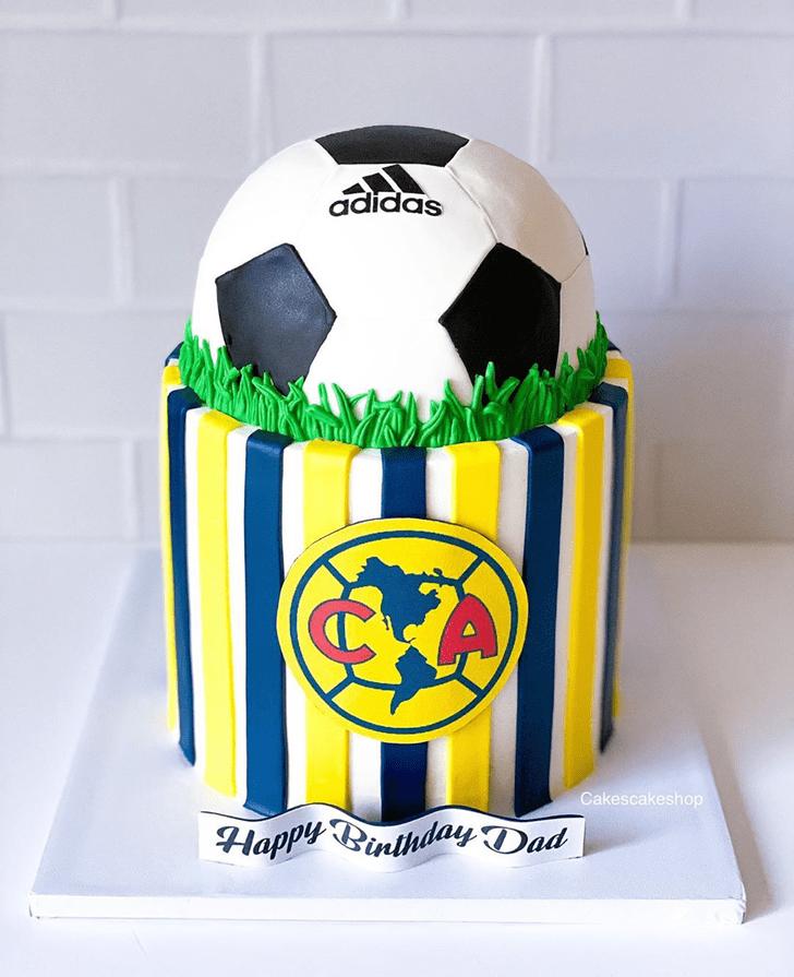 Appealing Soccer Cake