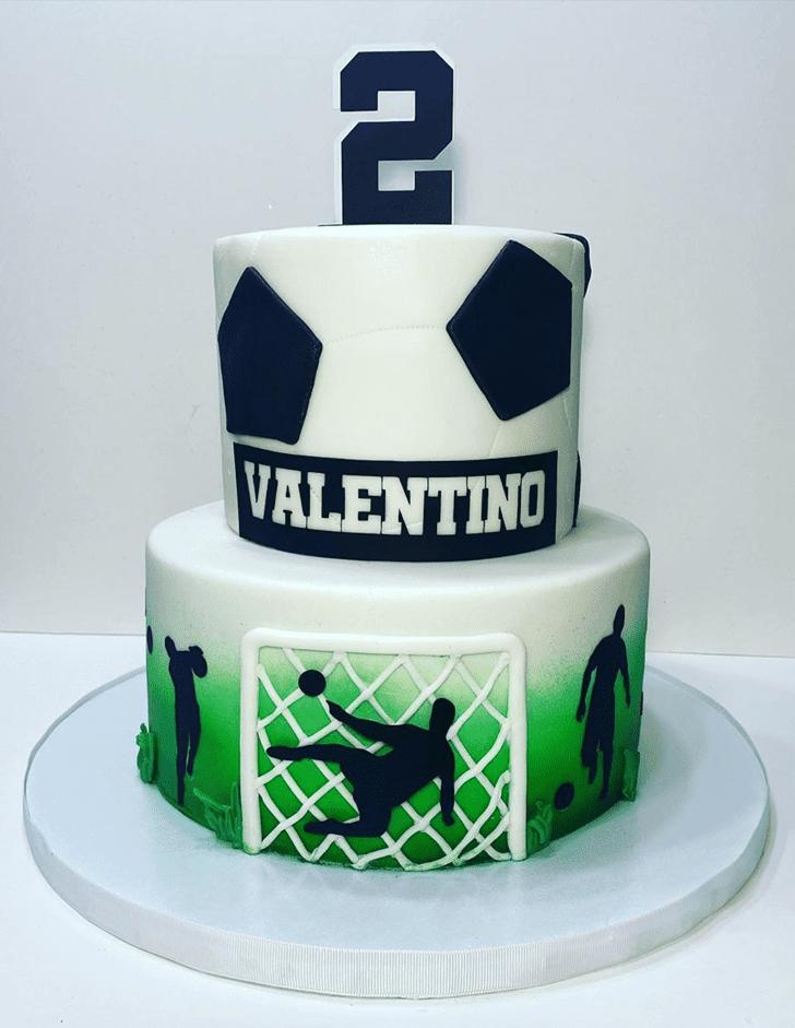 Beauteous Soccer Cake