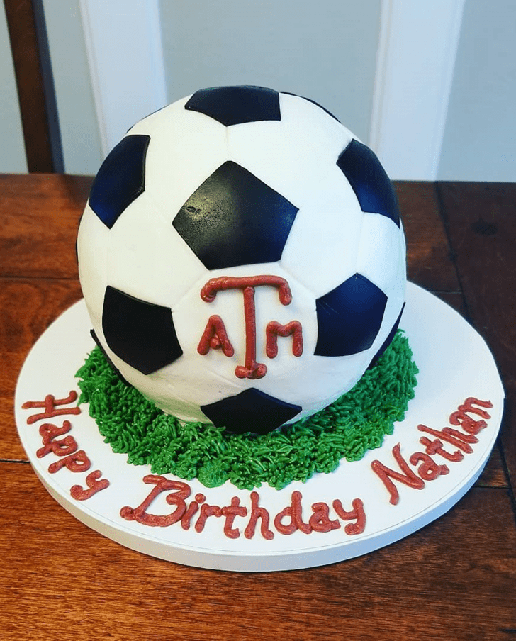 Captivating Soccer Cake