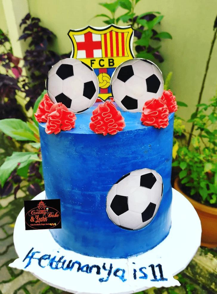 Charming Soccer Cake