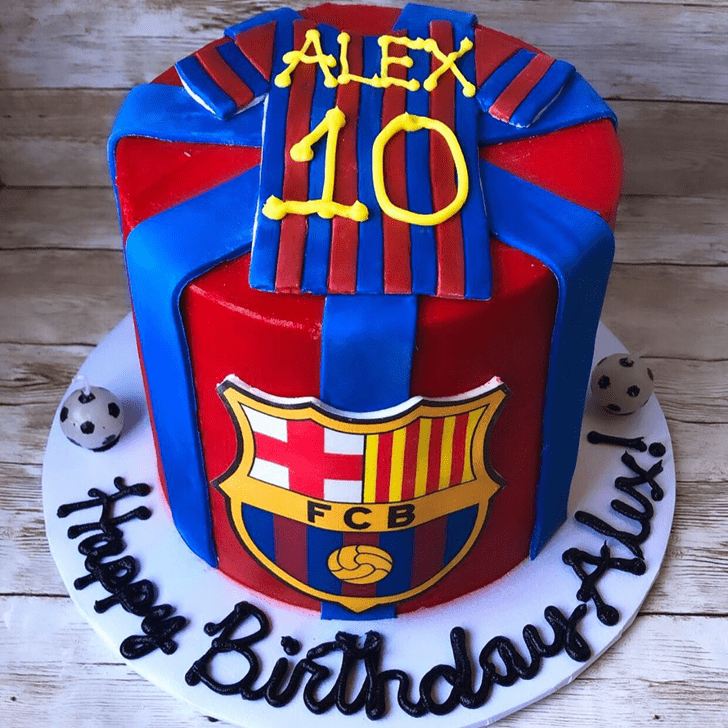 Comely Soccer Cake