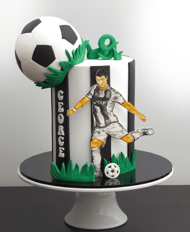 Elegant Soccer Cake