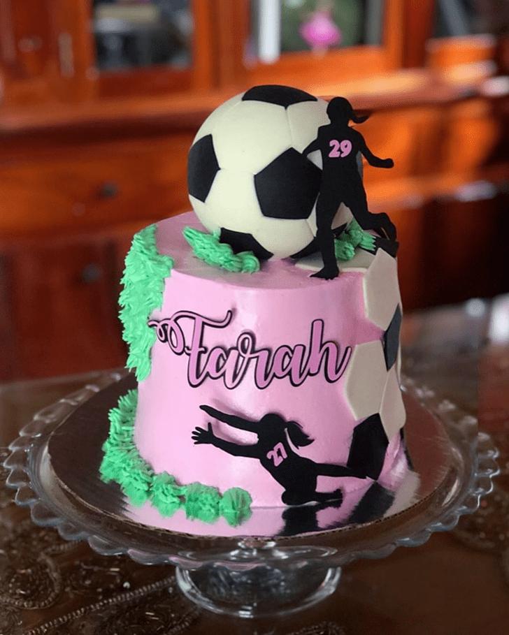 Enticing Soccer Cake