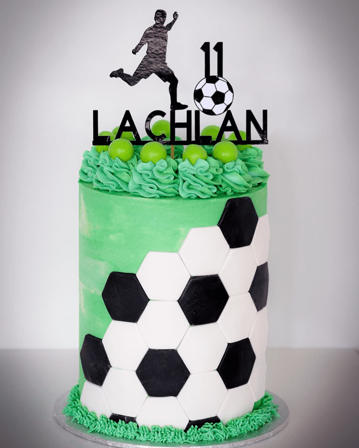 Exquisite Soccer Cake