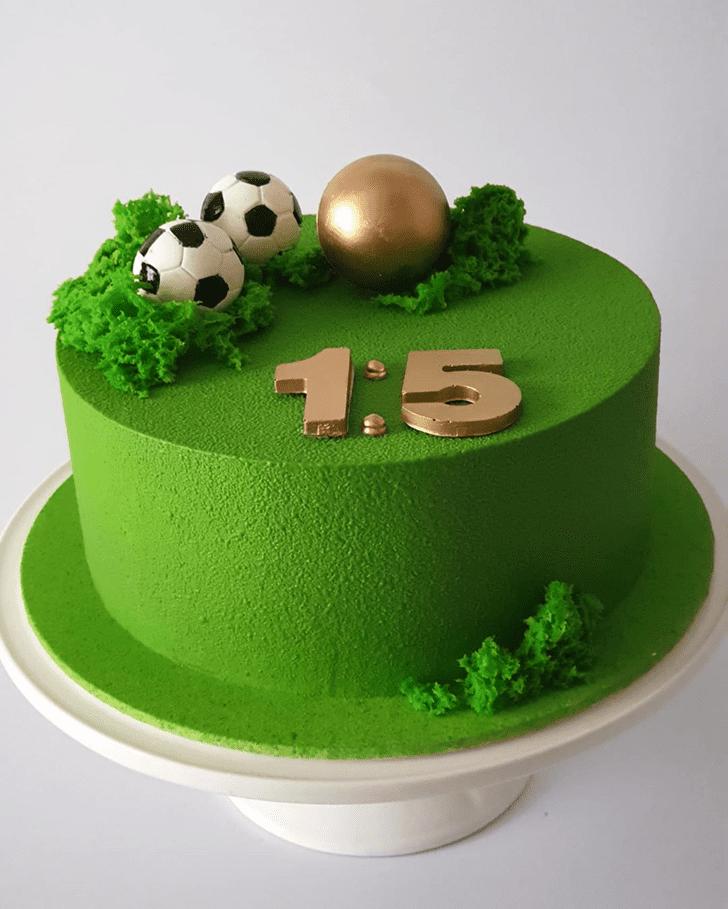 Fair Soccer Cake