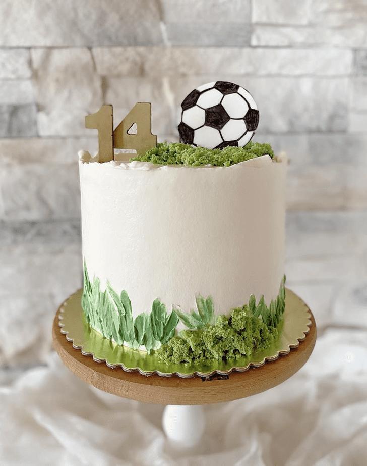 Fascinating Soccer Cake