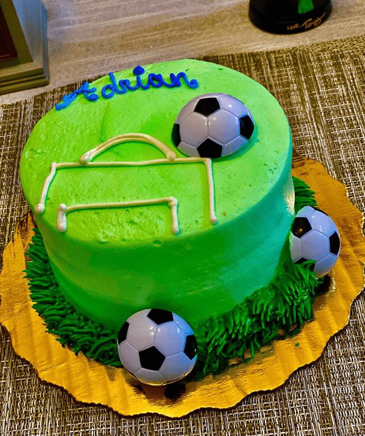 Fetching Soccer Cake