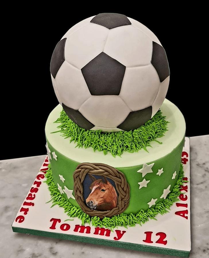 Fine Soccer Cake