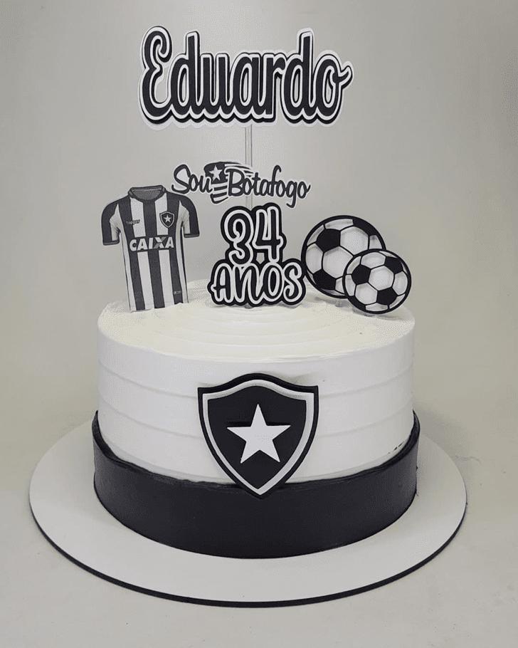 Graceful Soccer Cake
