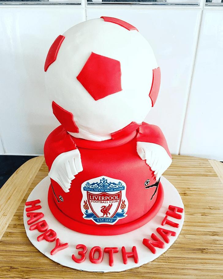 Nice Soccer Cake