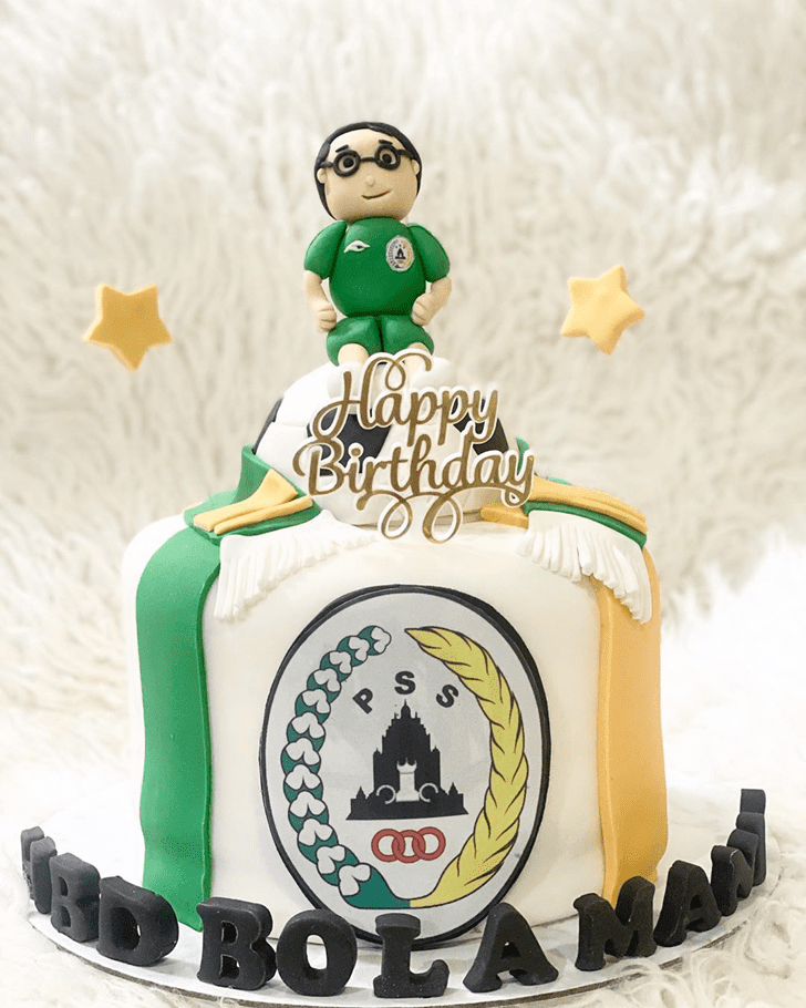 Radiant Soccer Cake
