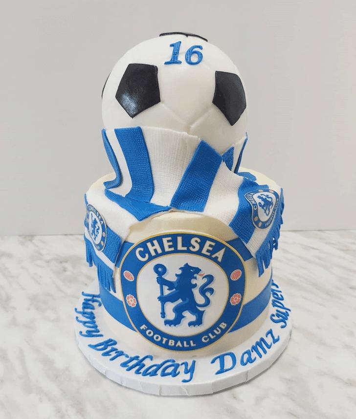 Shapely Soccer Cake
