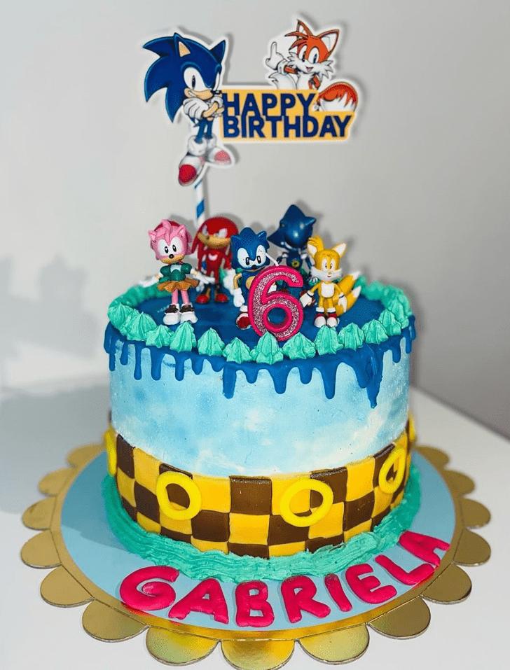 Admirable Sonic Cake Design