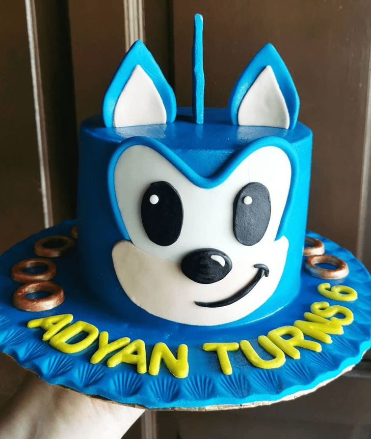 Classy Sonic Cake