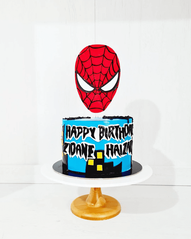 Adorable Spiderman Cake
