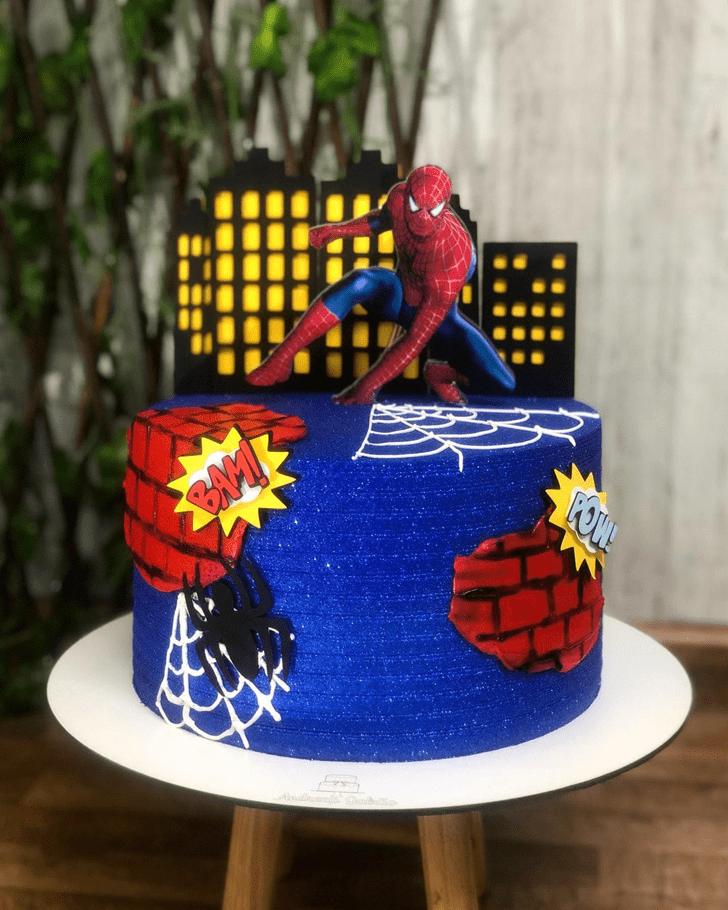 Alluring Spiderman Cake