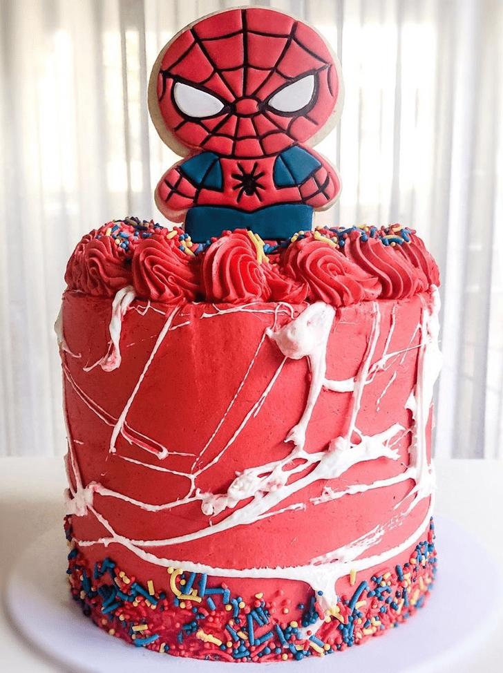 Captivating Spiderman Cake