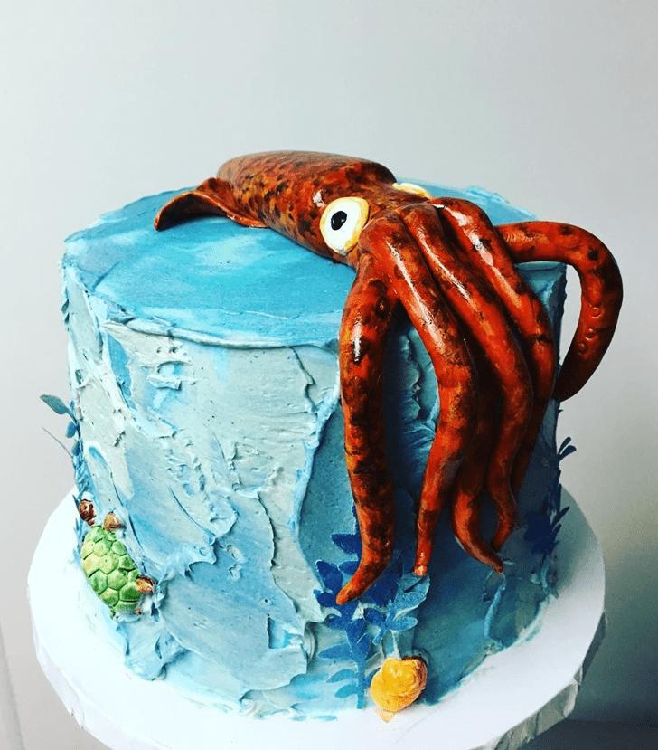Admirable Squid Cake Design