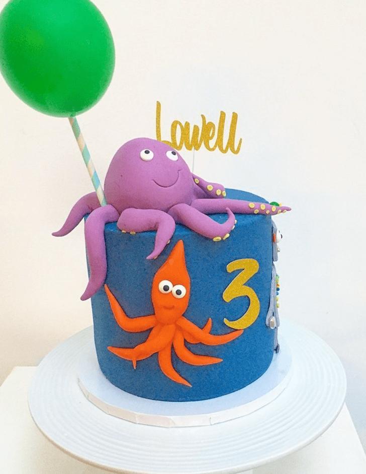Cute Squid Cake