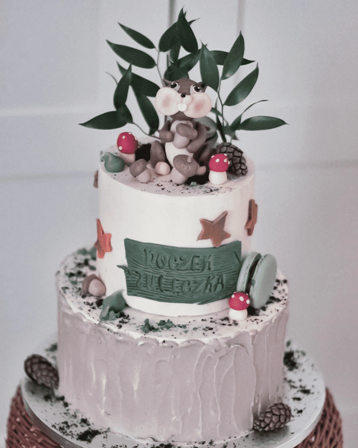 Adorable Squirrel Cake