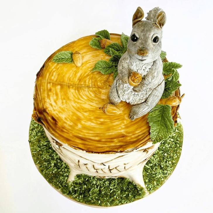 Pretty Squirrel Cake