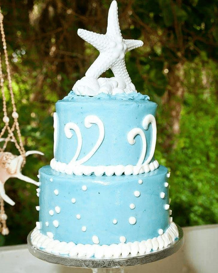 Dazzling Starfish Cake