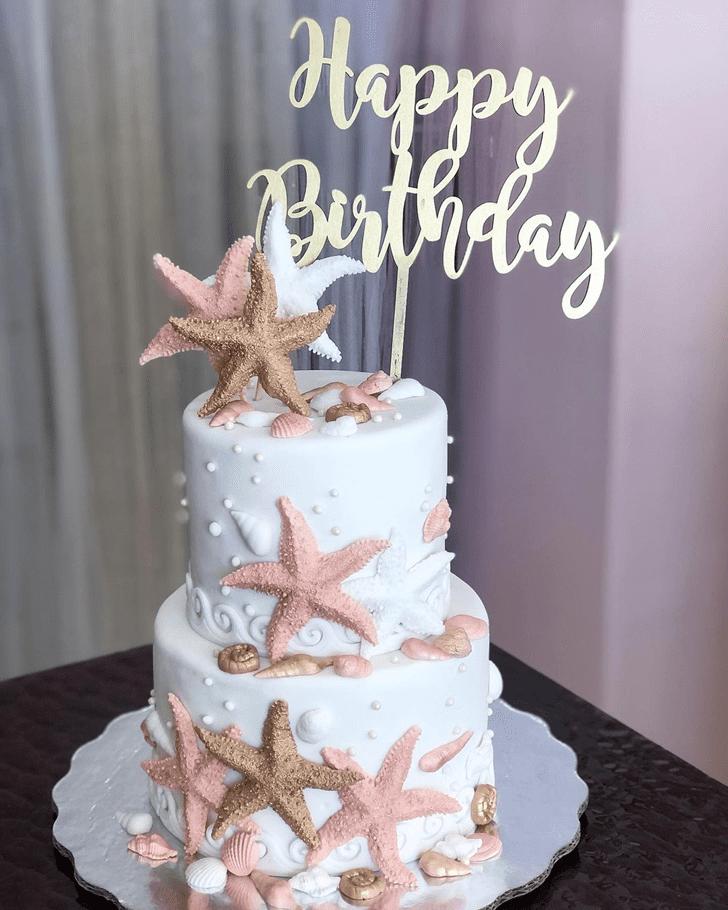 Graceful Starfish Cake