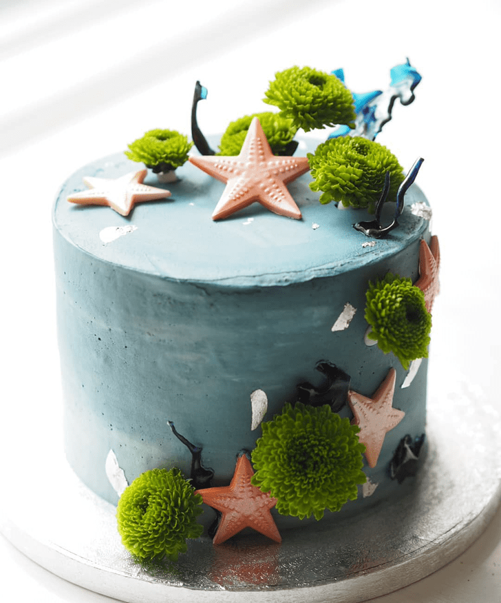 Handsome Starfish Cake