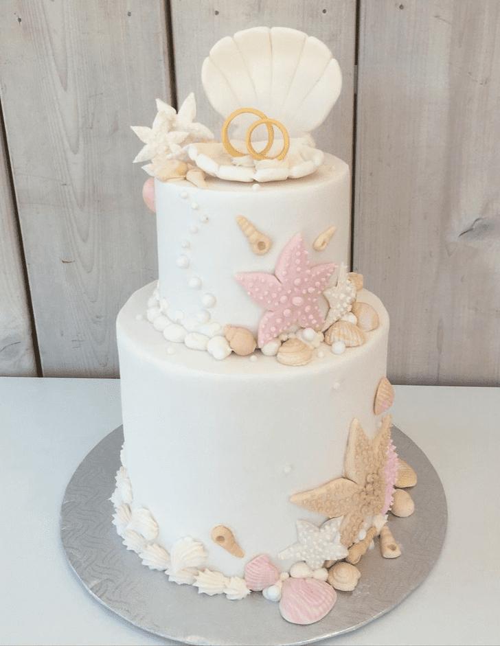 Lovely Starfish Cake Design