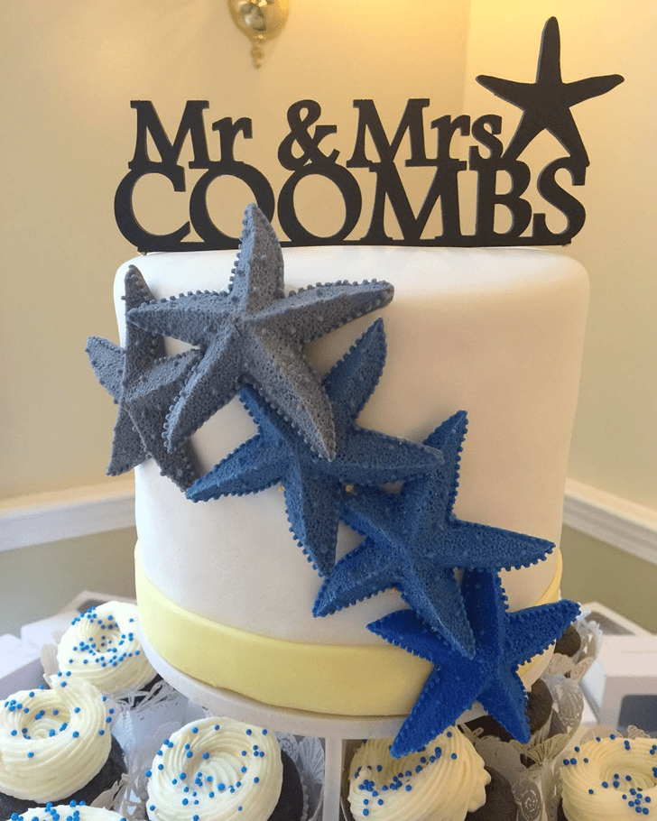 Pleasing Starfish Cake
