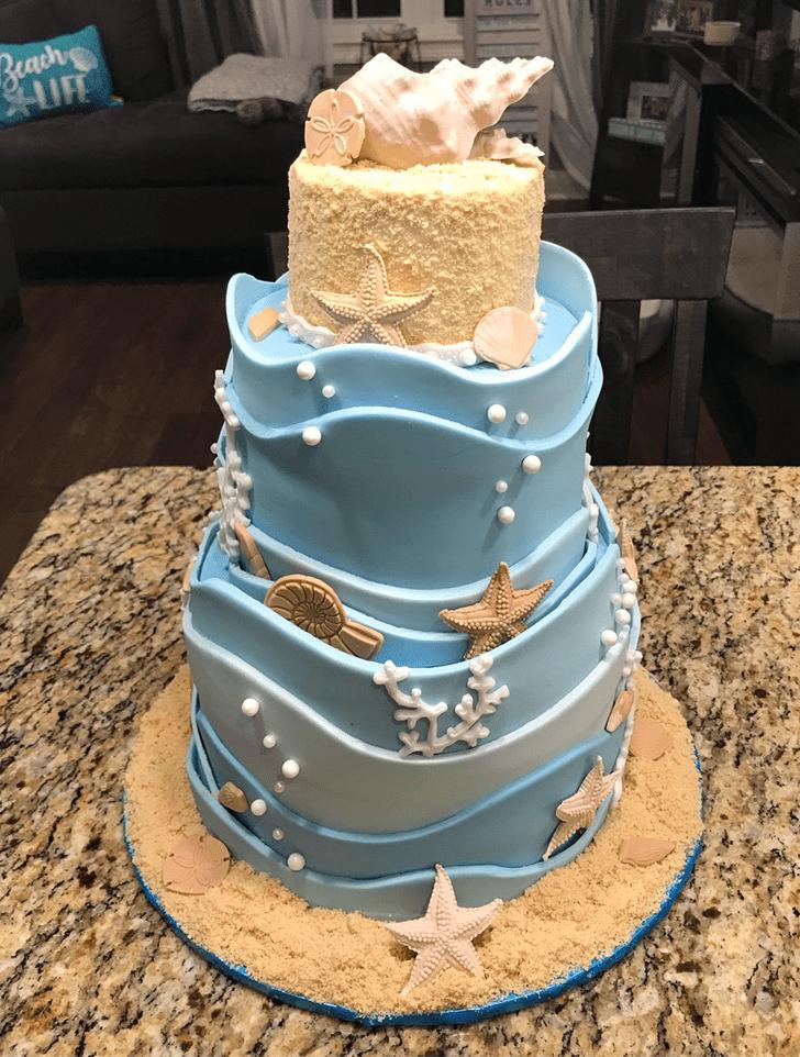Radiant Starfish Cake