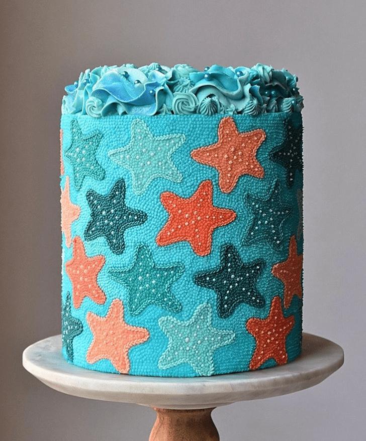 Shapely Starfish Cake
