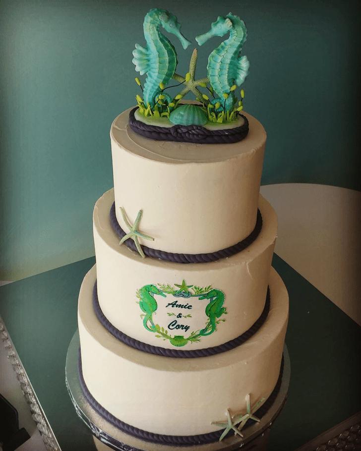 Wonderful Starfish Cake Design