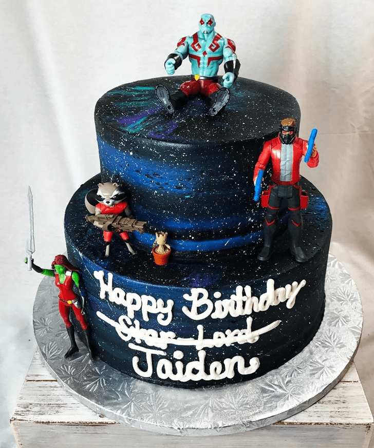 Appealing Star Lord Cake